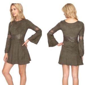 Women's Romeo + Juliet Green Dress Suede size L 🌻